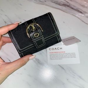 Brand New Coach Soho Signature Mini Wallet